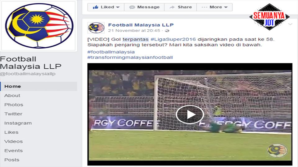 Gol Terpantas Liga Super 2016 Sumber Football Malaysia Llp
