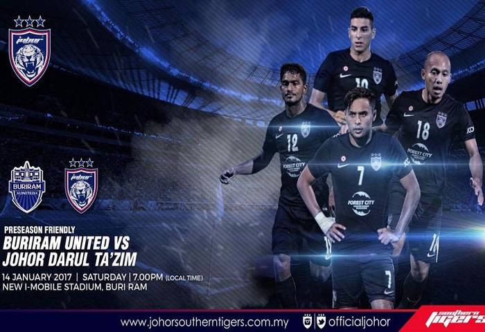 Pra-musim Thailand 2017: Buriram United Vs JDT Live Streaming