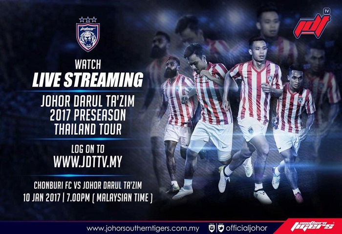 Pra-musim Thailand 2017: Chonburi FC Vs JDT Live Streaming