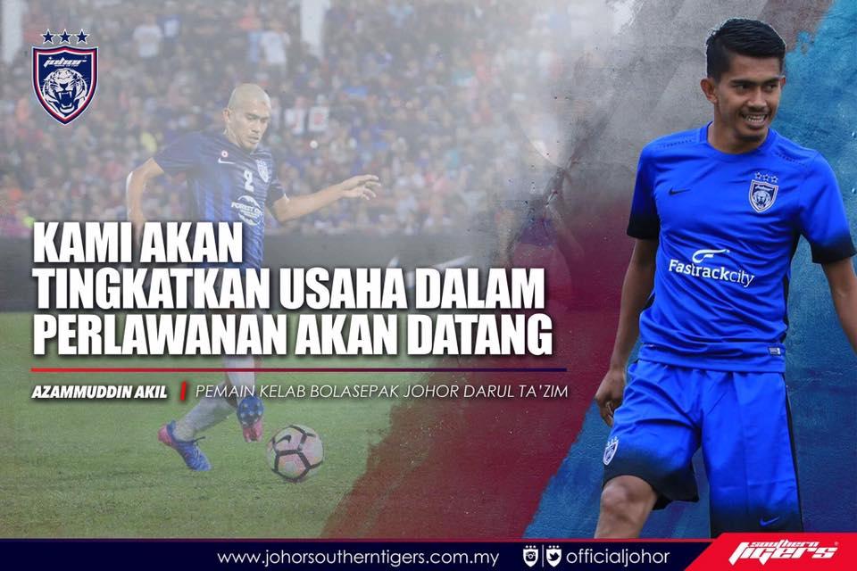 JDT vs Felda United azamuddin akil alex