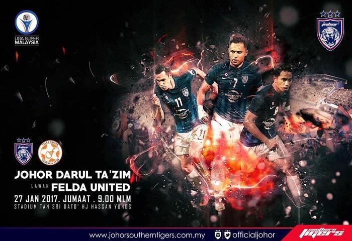 Prebiu Liga Super #2: JDT Vs Felda United, Kesebelasan Utama Dan Taktikal