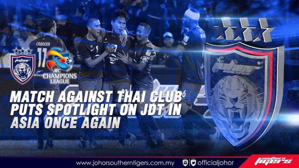 Piala ACL 2017 Bangkok united vs JDT asia