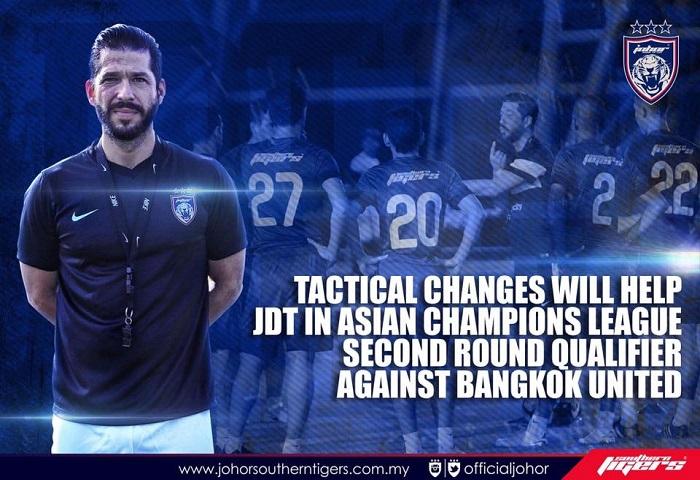 Piala ACL 2017 Bangkok United Vs JDT Benjamin Mora