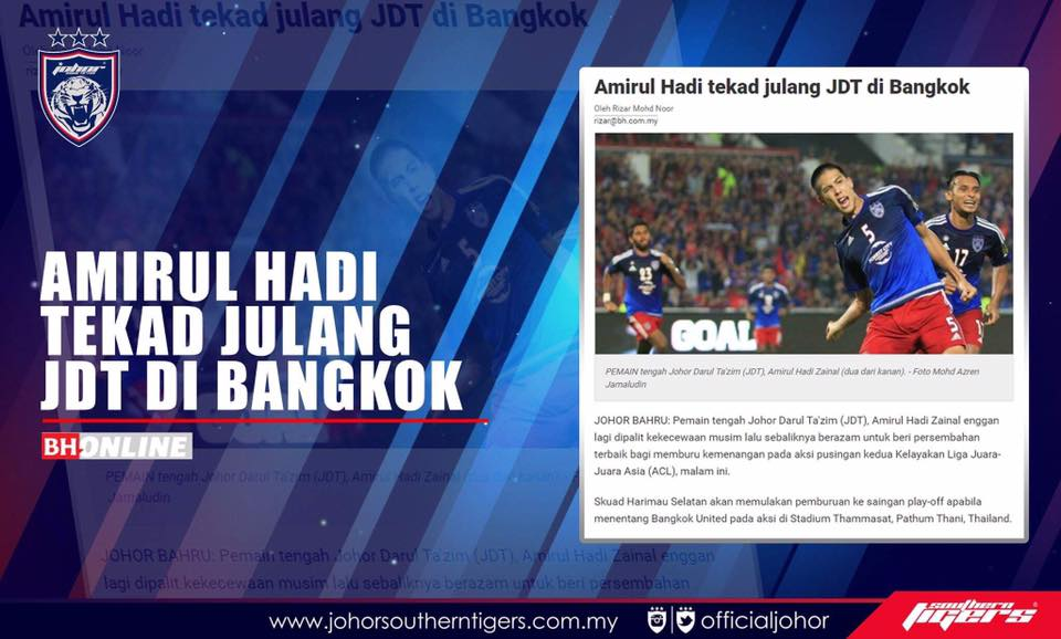 bangkok united vs JDT live streaming Amirul Hadi