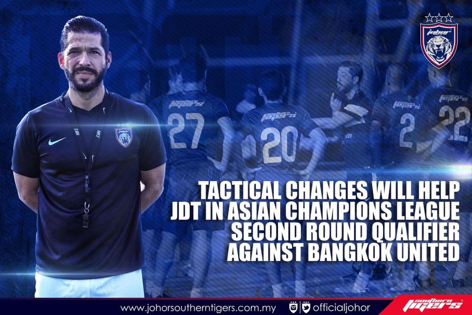 bangkok united vs JDT live streaming Benjamin Mora