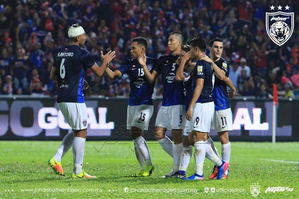 jdt vs kedah piala sumbangsih 2017 gol penalti