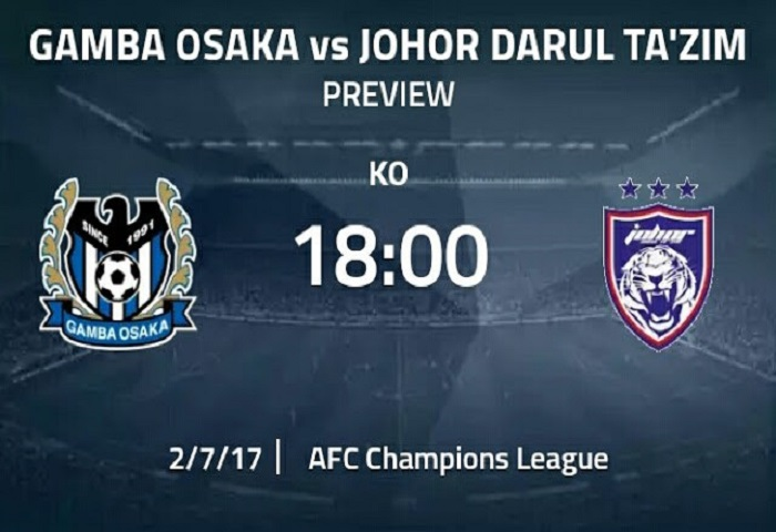 Piala ACL 2017 Playoff: Gamba Osaka Vs JDT Live Streaming