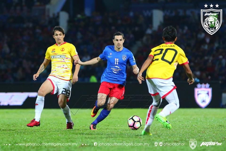 JDT 0 Selangor 0 cabrera 2017