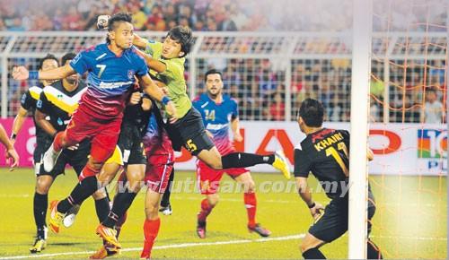 Perak vs JDT aidil menjaringkan gol