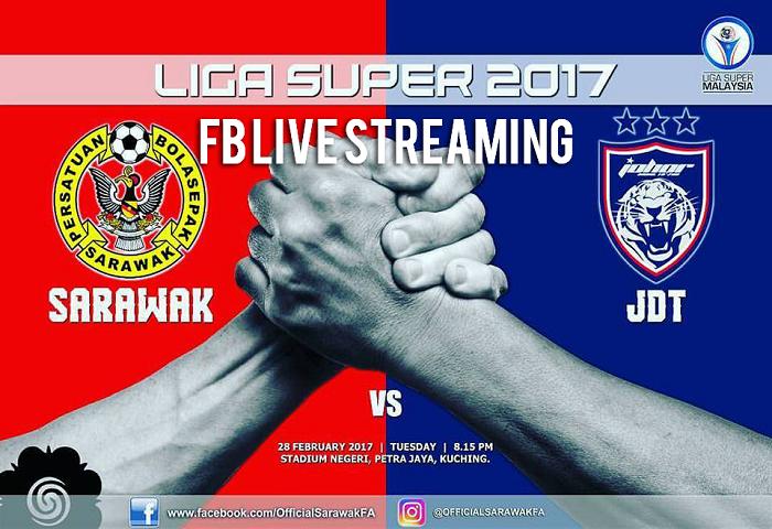 Sarawak Vs JDT Live Streaming