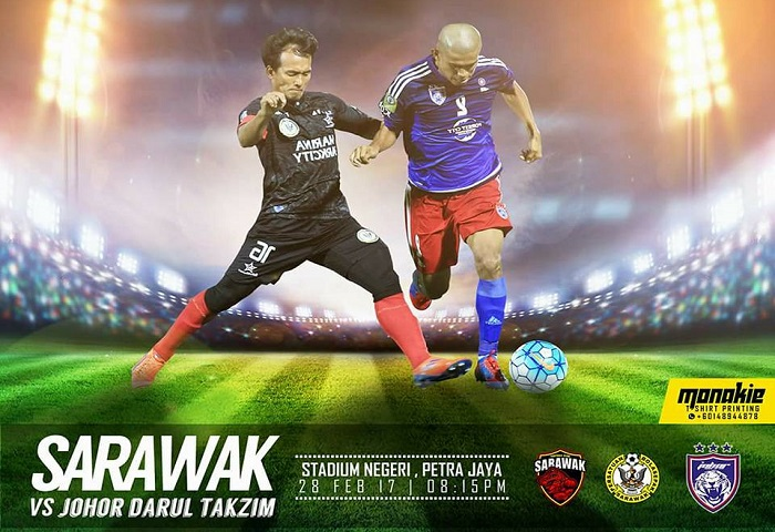 Sarawak Vs JDT Poster