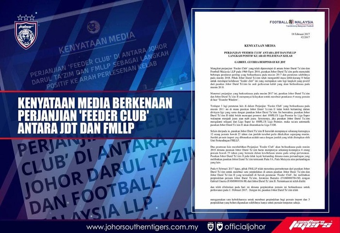 feeder club jdt fmllp