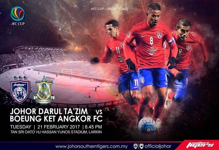 Piala AFC: Bolehkah Kemenangan Pertama JDT Menaikan MA Ranking Malaysia?