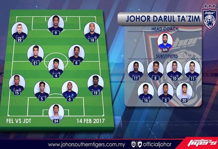 Piala Fa 2017 Felda United 0 Jdt 2 Line Up
