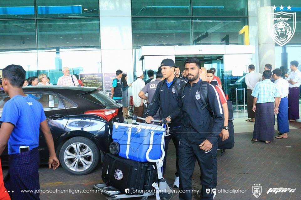 JDT membawa 18 pemain ke Myanmar