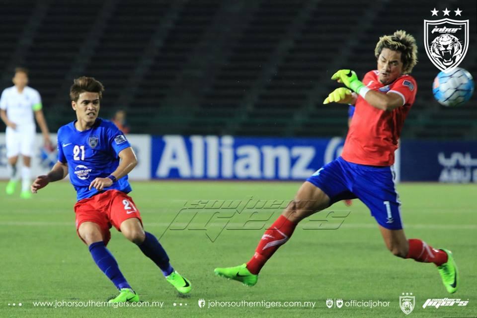 Boeungket Angkor FC 0 JDT 3 gol nazmi faiz