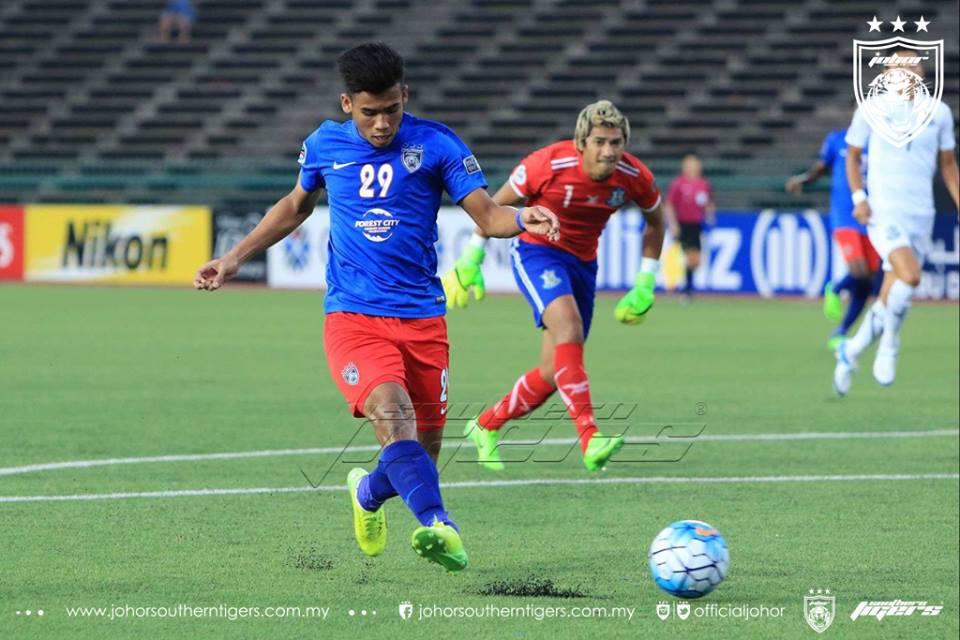 Boeungket Angkor FC 0 JDT 3 gol pertama safawi rashid