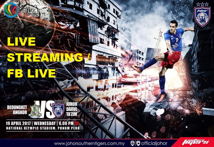 Boeungket Angkor FC Vs JDT Live Streaming