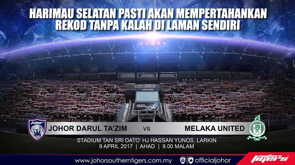 JDT vs Melaka United live streaming