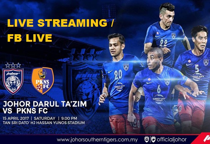 Liga Super 2017: JDT Vs PKNS FC Live Streaming