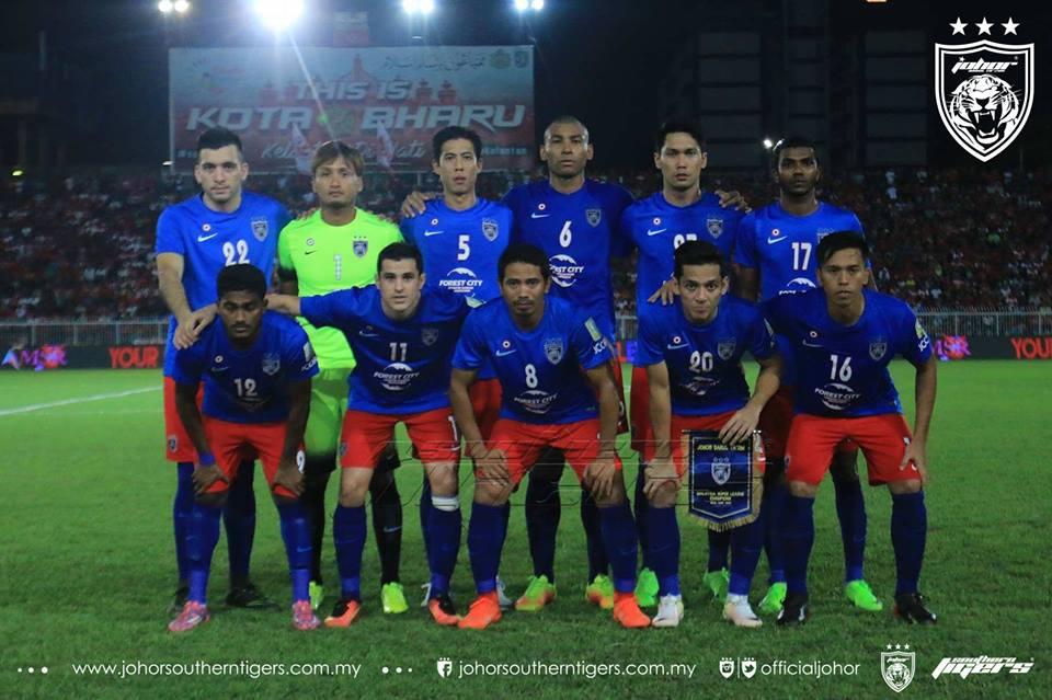 Kelantan 2 JDT 3 kesebelasan utama