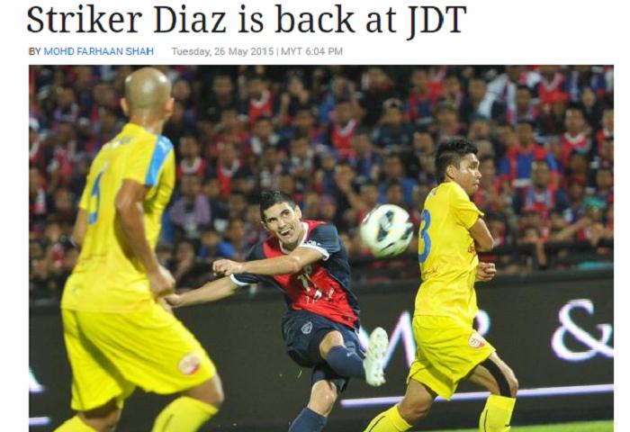 Diaz Kembali Ke JDT