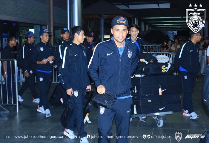 20 Pemain JDT Selamat Tiba Di Filipina Untuk Menghadapi Ceres Negros FC