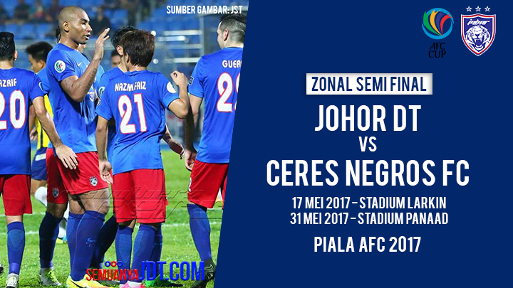 zonal semi final jdt vs ceres negros fc