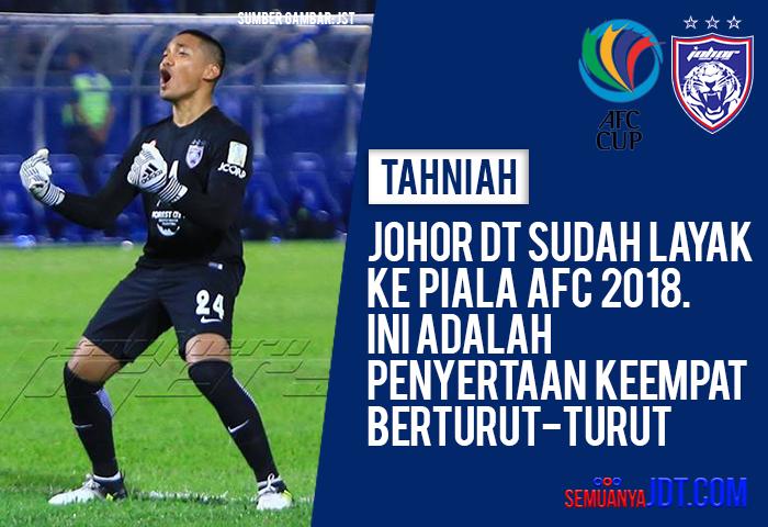 JDT Layak Ke Piala AFC 2018