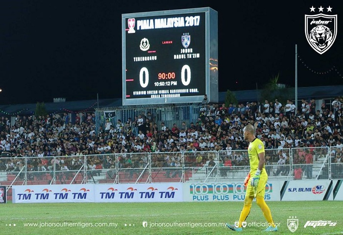 Piala Malaysia 2017: Terengganu 0 JDT 0, Haziq Penyelamat JDT Dari Kekalahan