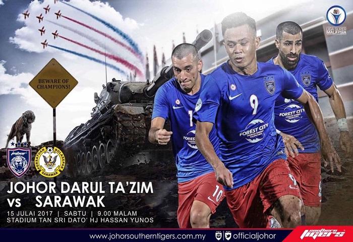 Liga Super 2017: JDT Jangan Amik Mudah Perlawanan Menentang Sarawak