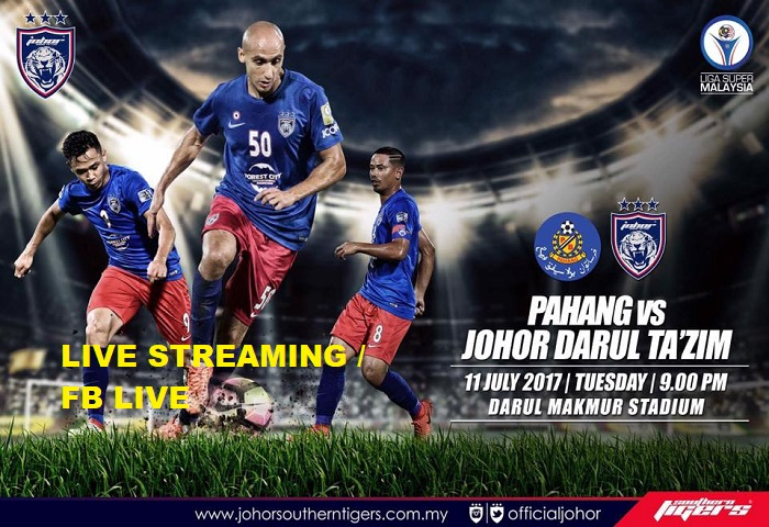 Liga Super 2017: Pahang Vs JDT Live Streaming
