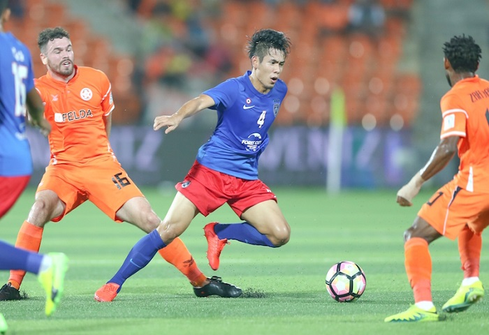PAHANG, Jengka - Johor DT's Players, Mohd Afiq Fazail (C) And Felda United FC's Players During 2017 FA Cup In Action During 2017 FA Cup Between Felda United FC And Johor DT At Stadium Tun Abd Razak On 14 February 2017. Photo By Zam Zainal / Www.asiana.my