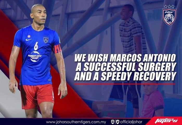 Baki Saingan Liga Malaysia Diteruskan Tanpa Marcos Antonio