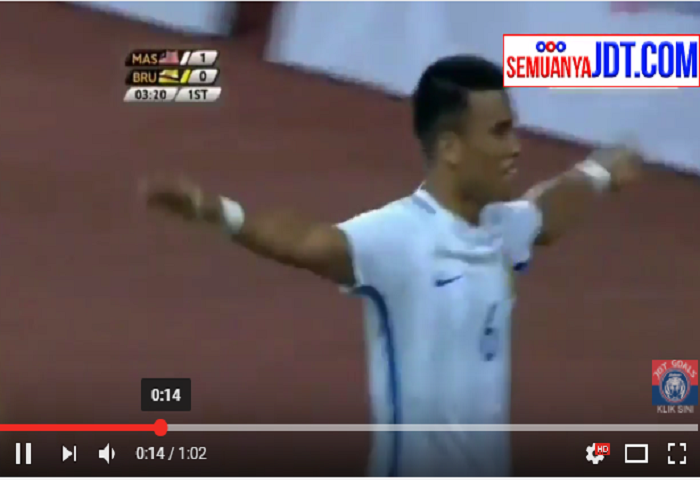 VIDEO: Gol Volley Padu Safawi Rasid, Malaysia Vs Brunei