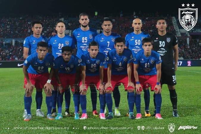 JDT line up vs Melaka
