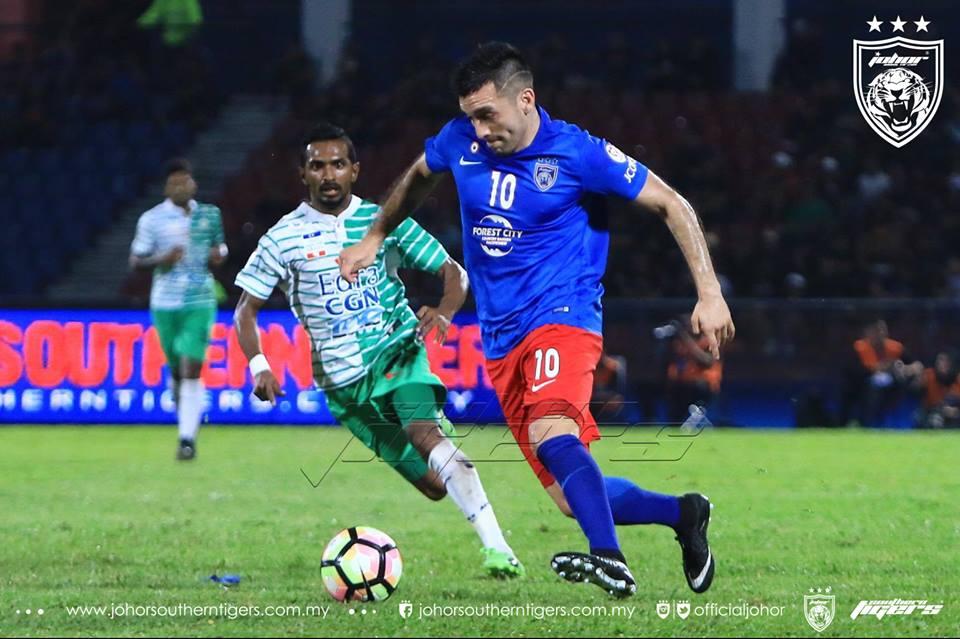 JDT vs Melaka United guerra