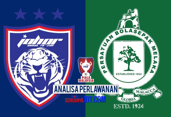 Analisa Piala Malaysia 2017: JDT Vs Melaka United, 3 Perkara Yang Perlu Diambil Perhatian Dari Perlawanan Ini