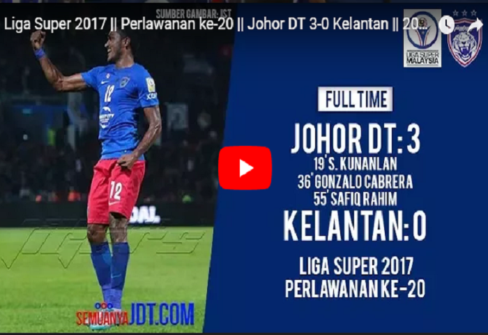 VIDEO RANGKUMAN: Liga Super 2017, Johor DT 3 Kelantan 0
