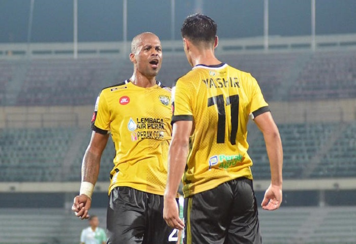 Perak Player Celebrate Againts Melaka United In Malaysia Super League 2017 Match At Stadium Perak,Ipoh On 4 February 2017.  Photo By Zulfachri Zulkifli/ Www.asiana.my