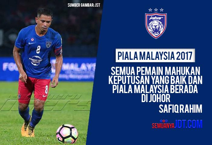 Safiq Rahim Buru Kejuaraan Sulung Piala Malaysia