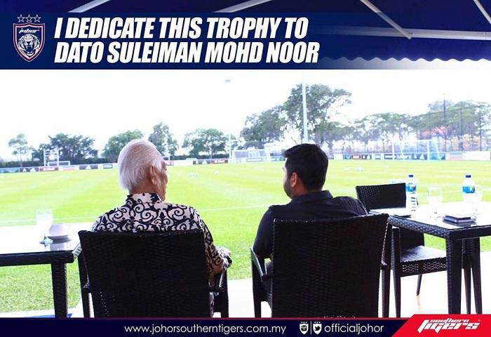 TMJ Dedikasikan Kejuaraan Piala Malaysia Kepada Bapa Bolasepak Johor