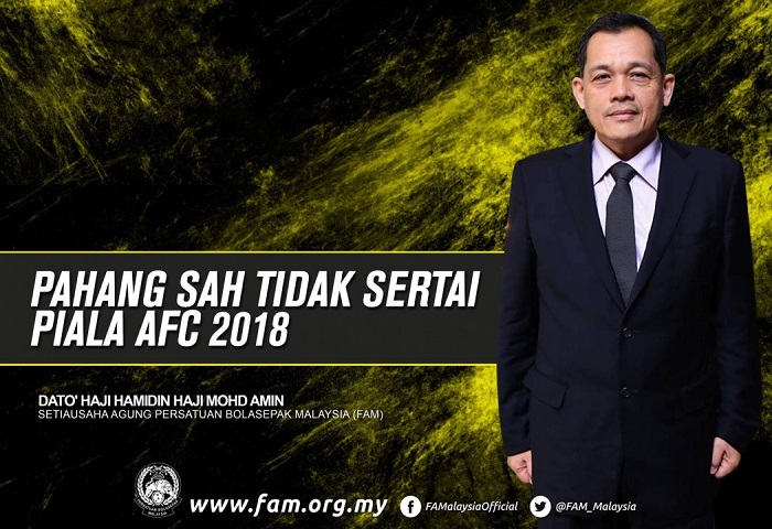 Pahang Tidak Sertai Piala Afc