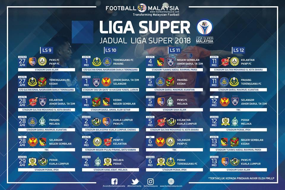 jadual liga super 2018 ls12