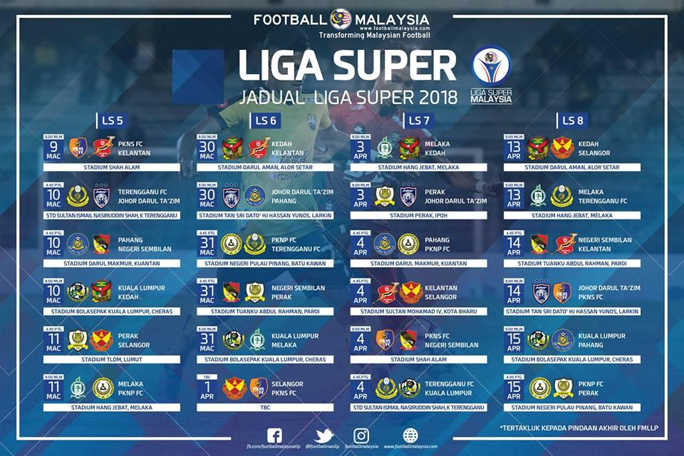 jadual liga super 2018 ls8