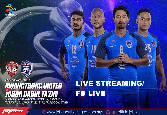 Muangthong United Vs JDT Live Streaming