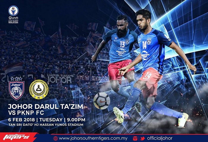 Liga Super 2018: JDT Vs PKNP FC Live Streaming (06/02/2018)