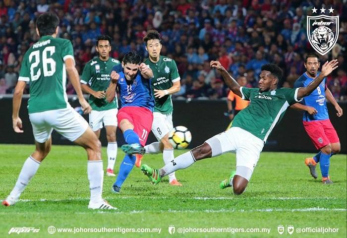 JDT Tewaskan Melaka United 3-0, Pendahulu Liga Super 2018 Buat Seketika