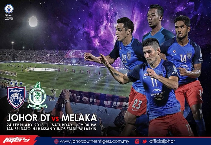 Liga Super 2018: JDT Vs Melaka United Live Streaming (24/02/2018)