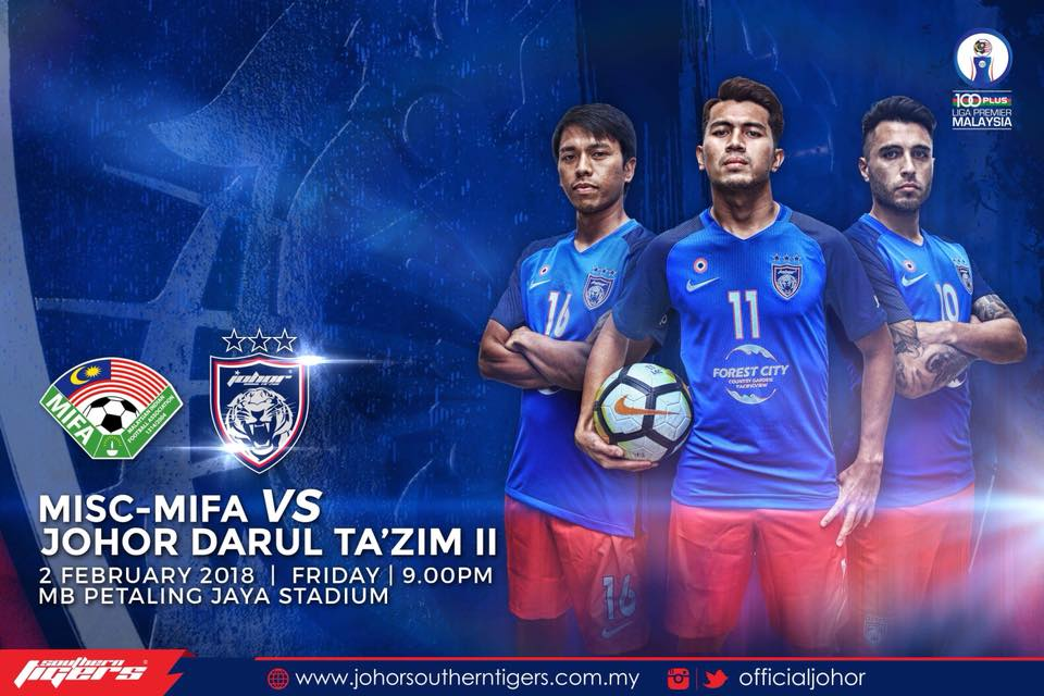 Liga Perdana 2018: MISC-MIFA Vs JDT II Live Streaming